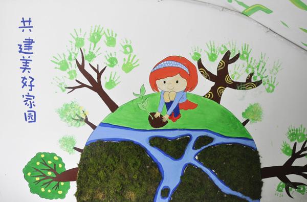 """青葱苔藓玩出新花样 高塘小学趣味""""苔藓涂鸦""""绘出环保绿色梦"""