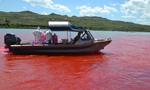 红色的密苏里河:染料为河水着色