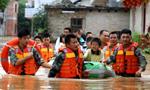 江西遂川遭大暴雨袭击 部分乡镇沦为一片汪洋