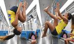 """地铁里""""会玩""""的瑞典姑娘"""
