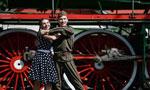 莫斯科举行别开生面的蒸汽火车阅兵式