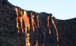 夏威夷基拉韦厄火山喷发 岩浆入海水汽蒸腾
