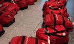英国奥运代表团回家 一样的行李包傻傻分不清