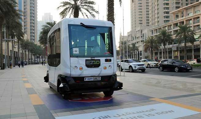 迪拜在市中心试运营无人驾驶客车