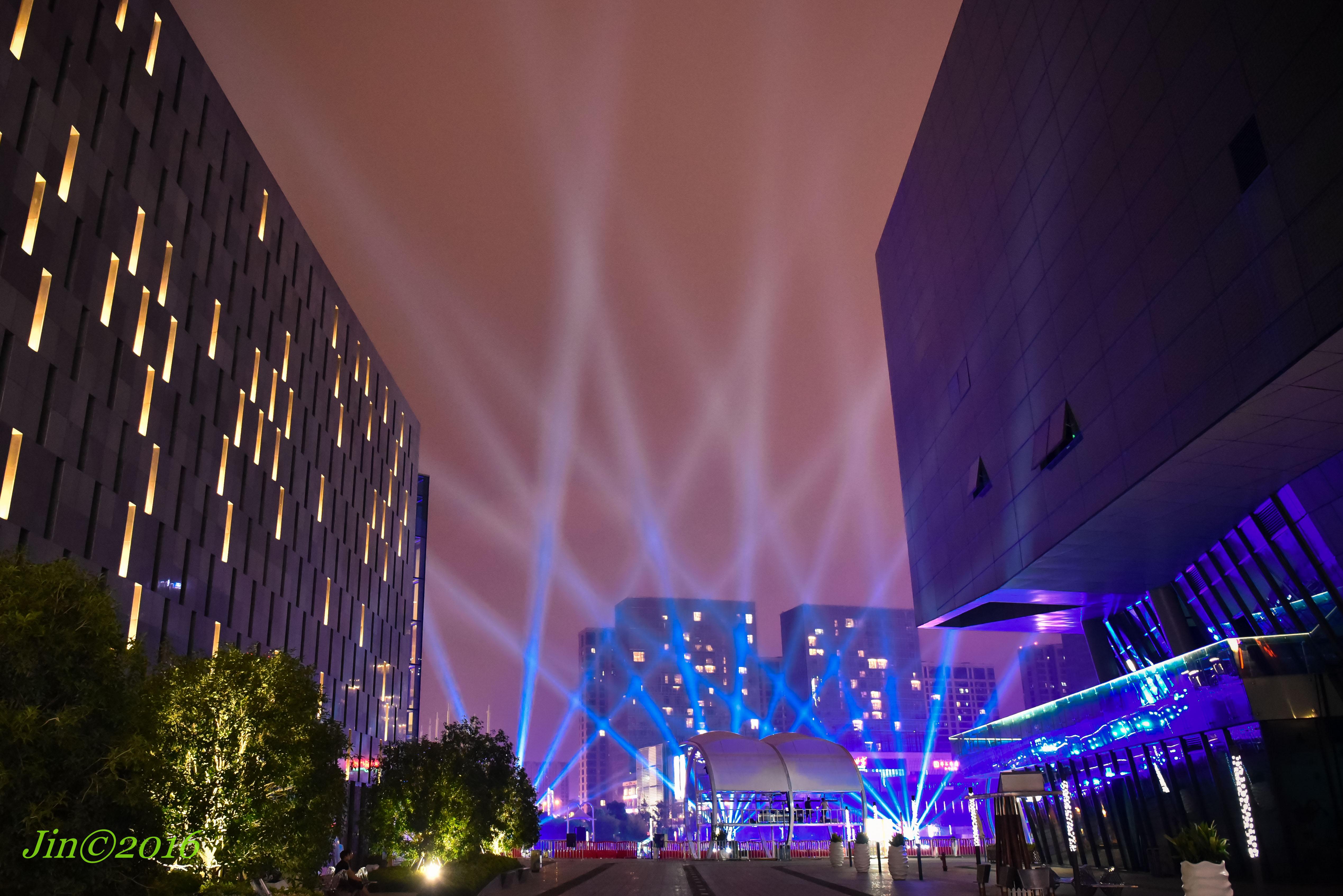 文化广场夜景