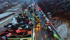 京昆高速山西段37车相撞已致4死40伤