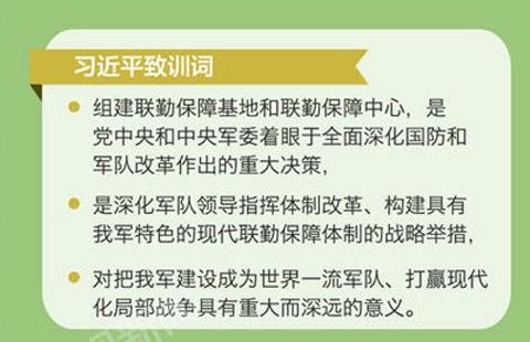中央军委联勤保障部队成立 习近平授予军旗并致训词