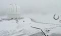 罕见!夏威夷降大雪 冲浪胜地变高山滑雪场