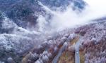 航拍湖北省神农架林区雪景