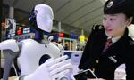 智能机器人亮相济南西站