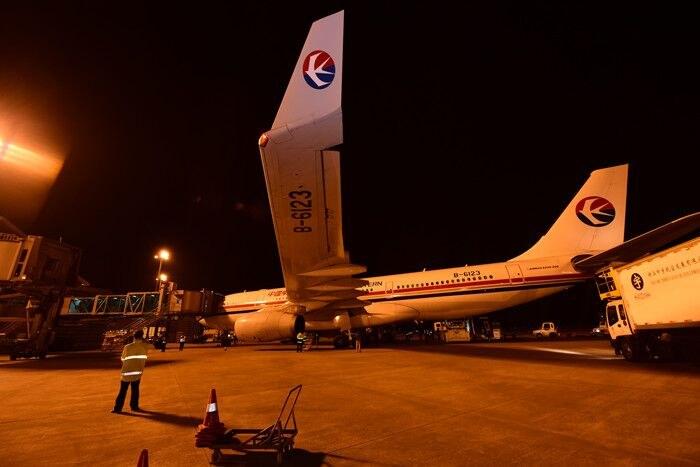 a320执行的mu5149/50航班北京-宁波-北京由空客a330-200型飞机执行,可