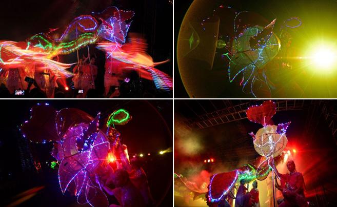 新加坡最大凤凰舞表演庆春节
