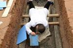 成都一楼盘工地发现60座战国船棺墓