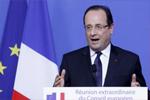 法国总统奥朗德讲话现场特警枪支走火致两人受伤
