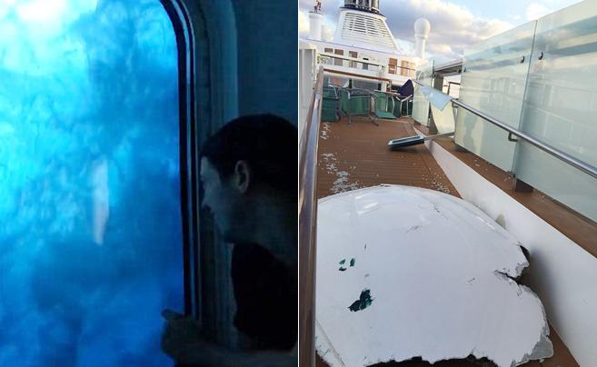 超恐怖!游客眼睁睁看9米巨浪袭击自己