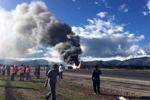 惊险!秘鲁一客机着陆时起火