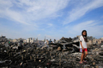 菲律宾:火灾废墟中的寻找