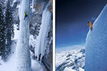 世上最大胆游客:垂直山峰玩滑雪