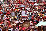 委内瑞拉执政党和反对党支持者分别举行游行示威