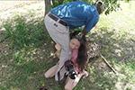中国一女学生在南非遭豹子扑袭惊险瞬间