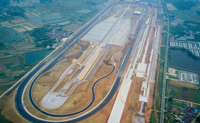 """南京:""""中国造""""试车场高速环道即将投运"""