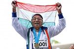 印度101岁女人瑞百米短跑赛夺金