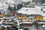 新疆乌鲁木齐南郊山区白雪皑皑