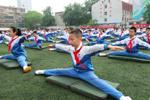 """济南中小学运动会 """"一字马""""领风骚"""