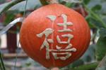 """五旬菜农瓜上刻字 """"私人定制""""南瓜身价倍增"""