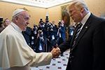 特朗普与教皇方济各会见,尚未就《巴黎协定》做出去留决定
