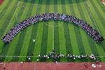 安徽现超级毕业照:2200人同框