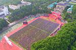 超壮观!航拍武汉大学毕业典礼
