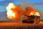 戈壁大漠上演自行火炮分队对抗,场面霸气!