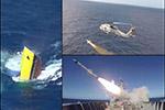 直击巴西一退役护卫舰被实弹击沉现场