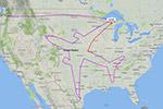 """波音飞机历经17小时在上空""""飞出""""自己的轮廓"""