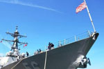 美军舰擅自进入中国南沙群岛岛礁邻近海域被驱离