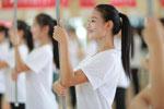 天津:全运会仪式引导员训练忙