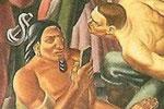 """80年前壁画现惊人一幕:美洲土著低头玩""""手机"""""""