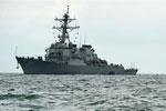 美国海军找到导弹驱逐舰撞船事故10名失踪船员遗体