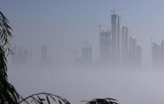 襄阳现平流雾景观 汉江两岸如梦如幻