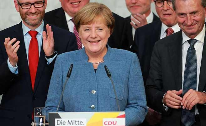 默克尔将第四次出任德国总理
