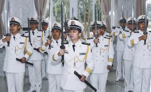 海军首次举行授剑仪式,来看看真正的帅是怎样的!