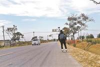 大学生轮滑567公里来京 历时5天半磨损12个滑轮轴承