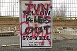 """加拿大现""""杀死中国佬""""涂鸦 因华人家长抗议学校边建避难所"""