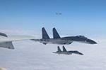 空军战机成体系飞越宫古海峡、巴士海峡