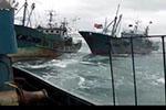 韩国海警称中国渔船非法捕鱼 发射453发子弹扣20人