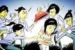 江西宁都一女生被7名同学殴打踩踏 带头3人被处分