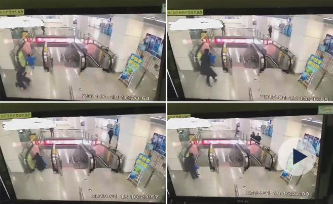 事发宁波轨道交通:10秒两扑! 工作人员抱住独上扶梯的宝宝
