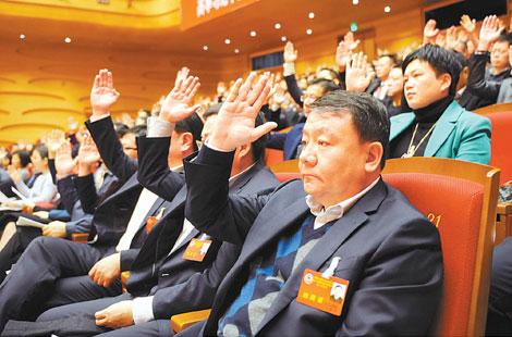 政协委员举手表决