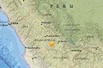 秘鲁南部发生5.3级地震 震源深度61.7公里